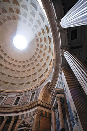 the pantheon is a perfect example of Roman concrete expertise