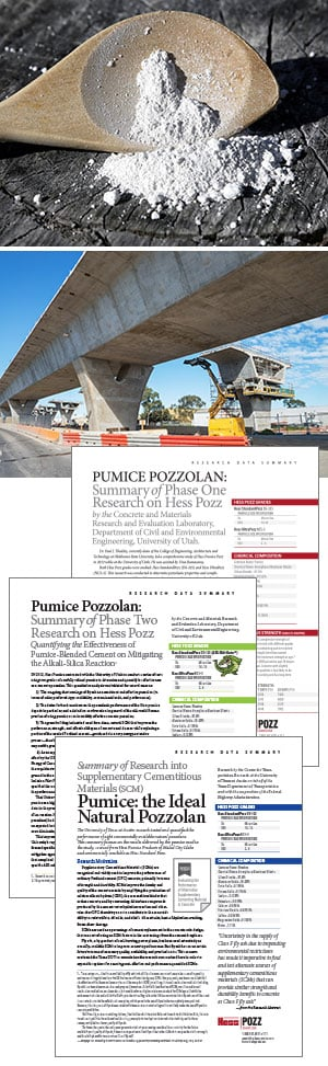 modern concrete dramatically improves with a performance-boosting shot of pumice pozzolan
